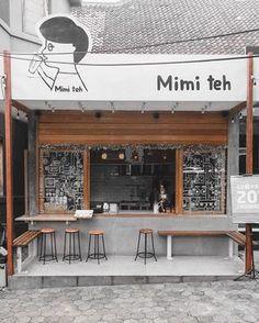 Home Decoration With Paper Craft Cafe Shop Design, Small Cafe Design, Kiosk Design, Restaurant Interior Design, Modern Restaurant, Small Coffee Shop, Coffee Store, Container Coffee Shop, Container Cafe