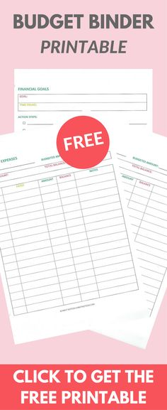 Free Budgeting Printables Budgeting, Create and Frugal