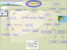 Una mappa concettuale sul Neolitico realizzata con la LIM