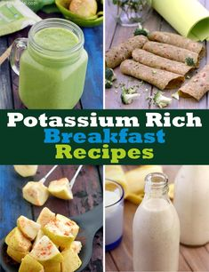 Potassium Rich Breakfast | Page 1 of 3 Healthy Meals For Kids, Healthy Snacks, Snacks Recipes, Juice Recipes, Yummy Snacks, Healthy Habits, Cooking Recipes, High Potassium Foods, Recipes