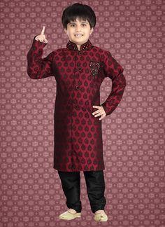 blue embroided denim shirt with tulle skirt Kids Wear Boys, Boys Kurta, Boys Online, Wedding With Kids, Sherwani, Kids Pajamas, India Fashion, Pajama Set, Boy Outfits