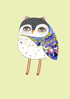 Magic Owl. Limited edition print of 100. Owl Art by AshleyPercival