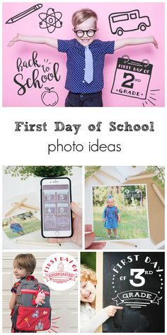 First Day of School Photo Ideas First Day Of School Pictures, First Day School, Beginning Of The School Year, School Photos, Back To School, Kindergarten Pictures, Kindergarten First Day, School Portraits, Starting School