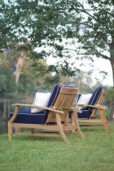 The Croquet #teak #outdoor #furniture collection is also available from The Tin Roof (special order) in Spokane WA. Customize the cushions from hundreds of options.
