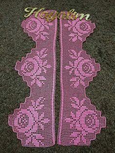 Thread Crochet, Crochet Trim, Love Crochet, Crochet Lace, Crochet Edging Patterns, Crochet Borders, Stitch Patterns, Crochet Curtains, Crochet Doilies
