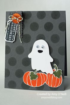 Are you a Halloween fan?  I like Halloween, but I really only like fun & cute Halloween. I don't really like scary Halloween.  So this Fall Fest stamp set is right up my alley.  I like the cute...