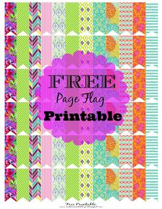 Free Planner Printable Page Flags (AndreaNicoleBlogs)