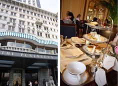"Another famous venue for afternoon tea in Asia: The Lobby at the Peninsula Hotel of Hong Kong. CNNgo labelled it as ""the Iconic"" afternoon tea set among Hong Kong's most decadent afternoon tea sets. The hotel itself dates back to 1928 and is well known for its large fleet of Rolls-Royces #JetsetterCurator"