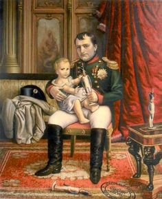 Painting of Napoleon I and his son Napoleon II for the Children's Playroom