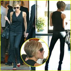 victoria beckham blonde short hair