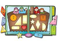 Have fun learning and recognizing different shapes and remembering the story…