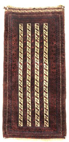 Baluch Rug, Northeast Persia; Late 19th century; 1-7 x 3-4 ft.