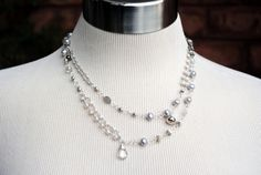 Anne Vaughan Designs - Silver Mix Long Necklace, $120.00 (http://annevaughandesigns.com/silver-mix-long-necklace/)