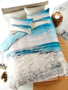Ocean Bedding by Deny Design: http://www.completely-coastal.com/2010/07/coastal-and-nautical-bedding.html