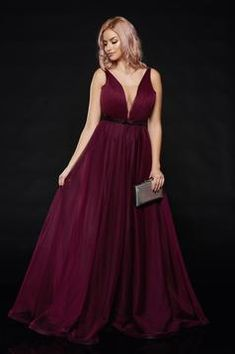 Ana Radu occasional net purple dress with v-neckline bow accessory Tulle Bows, Bow Accessories, Product Label, Tie Backs, Purple Dress, Neckline, Formal Dresses, Interior, Fabric