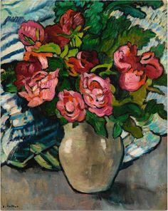 1918 Blumen im Fenster Postkarte Max Pechstein