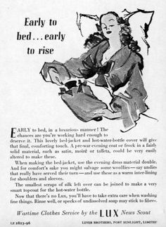 Savvy Housekeeping » Reusing Clothes in WWII