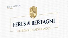 Projeto de Identidade Visual para Feres & Bertagni Sociedade de Advogados. Baseado na forma clássica do brasão representando nobreza, segurança, solidez.