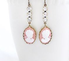 CIJ+15+Off+Cameo+Jewelry+Pink+Cameo+by+laurenblythedesigns+on+Etsy,+$26.00