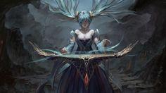 Sona Art League of Legends Girl High Resolution Wallpaper 2880×1620
