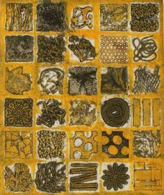 robin-moorcroft helpful on different forms of printing, inc collograph Collagraph Printmaking, Printmaking Ideas, 2nd Grade Art, A Level Art, Drawing Techniques, Art Activities, Pattern Art, Texture, Art Inspo