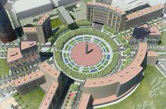 Futura Plaça de les Glòries, amb el nou Parlament de la República Catalana