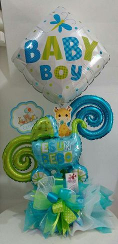 Baby Ballon, Baby Boy Balloons, Baby Shower Balloons, Balloon Flowers, Balloon Bouquet, Balloon Decorations Party, Baby Shower Decorations, Distintivos Baby Shower, Balloons And More
