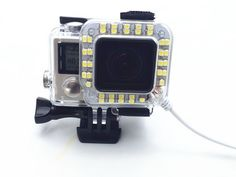 LC Prime® USB 20 LED Ring Shooting Night Flash Light for GoPro Hero 4/3+ Camera Housing plastic white 1