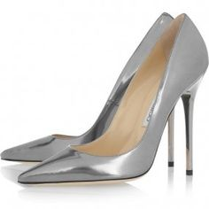 20d92150ed90 Silver Jimmy Choo Anouk Patent Leather