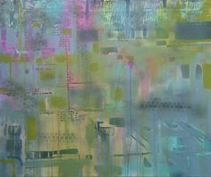 snapshot of reality // Katharyna Ulriksen 2008 mixed media on canvas #painting #art #maps #cities #senseofplace #nonplace