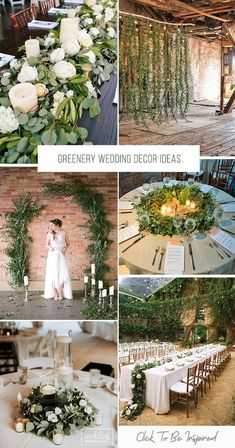 39 Greenery Wedding Decor Ideas ❤️ Greenery wedding decor is easy way to add nature and style to your reception. Greenery is a wonderful alternative to florals, that will give a lush look. Aqua Wedding, Woodsy Wedding, Wedding Colors, Wedding Events, Indoor Wedding, Forest Wedding, Weddings, Beach Wedding Centerpieces, Simple Wedding Decorations