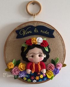 I have to do this for my daughter in law! Felt Diy, Felt Crafts, Little Presents, Felt Christmas Decorations, Embroidery Hoop Art, Felt Ornaments, Felt Flowers, Fabric Art, Doll Patterns