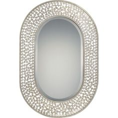 Confetti Old Silver Oval Mirror
