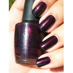 OPI India Collection, Black Cherry Chutney OPI Nail Polish ~ pretty color, but I wish it was just a little lighter