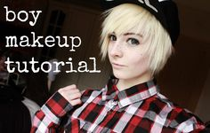 how i do my boy makeup // simple and easy male anime cosplay tutorial