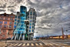 The Dancing Building, Prague, Czech (by Frank Gehry) http://en.wikipedia.org/wiki/Dancing_House