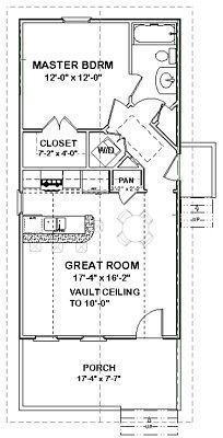 Details about Custom Tiny House Home Cottage Building Plans 1 bed 648 sf ---PDF file The Plan, How To Plan, Mother In Law Cottage, Plan Garage, In Law House, Casas Containers, House Blueprints, Small House Plans, Tiny Home Floor Plans