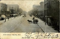 Center Avenue Bay City Michigan Bay City Michigan, Upper Peninsula, The Past, Urban