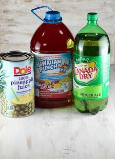 3 Ingredient Easy Party Punch ~ MissintheKitchen.com #punch