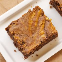 Pumpkin Swirl Brownies Recipe « Go Bold with Butter