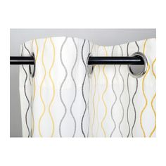 "HENNY RAND Curtains, 1 pair - white/gray yellow, 57x118 "" - IKEA"