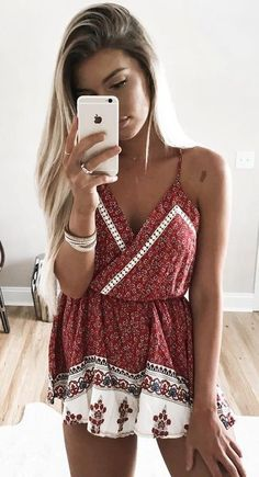 Need ideas? These awesome Casual Summer Outfit Ideas will give you enough inspiration to look gorgeously hot and comfortable this summer! Trendy Summer Outfits, Spring Outfits, Cute Outfits, Diy Outfits, Boho Fashion, Fashion Outfits, Fashion Photo, Street Fashion, Jolie Lingerie