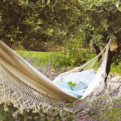 I love the idea of floating on a bed of lavender. I can just picture curling up in this hammock with a good book, swaying gently in the wind, the aroma of lavender wafting around me...