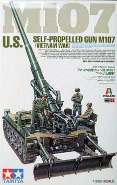 Tamiya scale U. Self-Propelled Gun (Vietnam War) Tamiya Model Kits, Tamiya Models, Military Weapons, Military Art, Plastic Model Kits, Plastic Models, North Vietnamese Army, Thing 1, Model Building