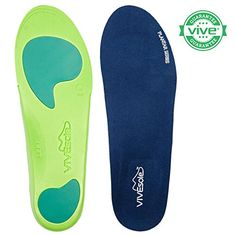 Full Length Orthotics by VIVEsole - Plantar Series - Insoles with Arch Support, Heel and Forefoot Cushions for Plantar Fasciitis - 120 Day Guarantee (X-Large) VIVEsole