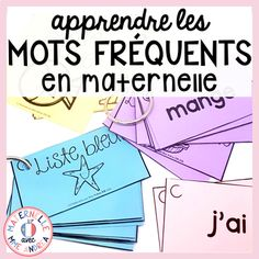 """Easily teach your students 90 high-frequency words with this product! I have grouped 90 """"mots d'haute fréquence"""" into groups of 10 and assigned each list a colour. Each list has a flash card for each word (to be put on a binder ring) as well as flash cards with 11 different sentences using words from the list to practice fluency and learning the words in context."""