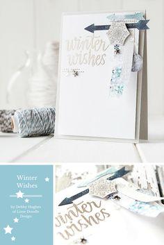 January Card Kit. For more please visit http://limedoodledesign.com/2014/12/january-card-kit-winter-wishes/ Debby Hughes - Lime Doodle Design #card #kit #winter #christmas