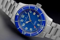 Prometheus Sailfish 300m Automatic Diver Watch Blue Dial Sapphire Bezel
