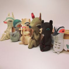 Fabric Totem Animals, by Abigail Brown. too expensive but amazing. http://abigailbrown.bigcartel.com/product/fabric-totem-pole