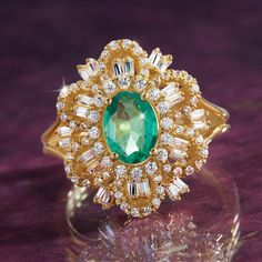 Green Star Zambian Emerald Ring w6637 | Stauer.com